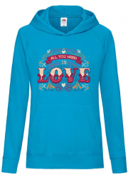 худи all you need love lettering girls black