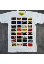 Дизайнерская футболка с кассетами