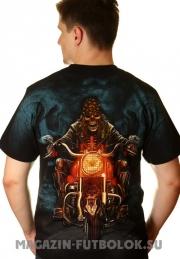 футболка байкерская ночной байкер