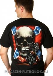 футболка с флагом конфедерации