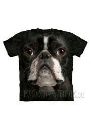 3д футболки с фото boston terrier