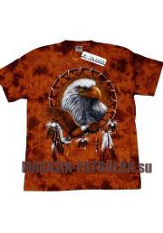 этническая футболка с орлом