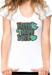 Футболка Faith Hope Love Girls