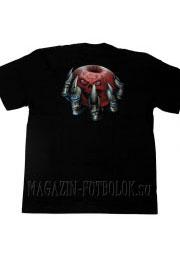 футболка 3 д рисунок skull fireball
