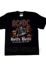 футболка ac/dc hells bells 2 skeleton