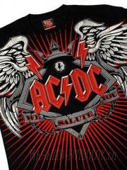 тотальная футболка с рок группой ac/dc