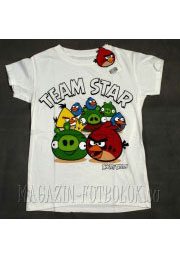футболка angry birds team star
