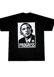 футболка барак обама progress