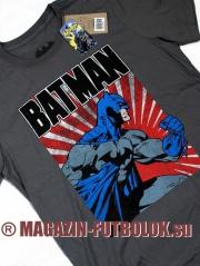 футболка batman run poster