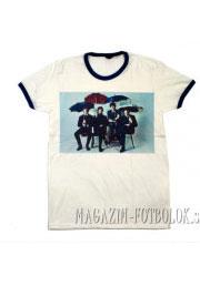 футболка beatles с зонтиками