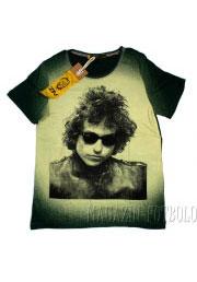 футболка bob dylan зеленая