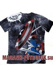 футболка captain america total print