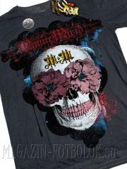 футболка цветы череп flowers eyes