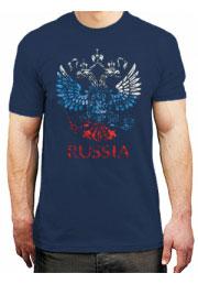 Футболка Герб России с флагом