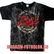 футболка life is short but rock is eternity