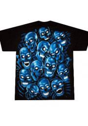 тематическая футболка blue skull pile blue