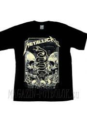 футболка metallica skulls