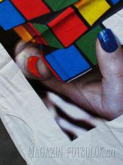 футболка платье кубик рубика