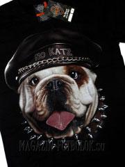 футболка для мотоциклистов с бульдогом