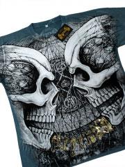 футболка с черепами two skulls legenda