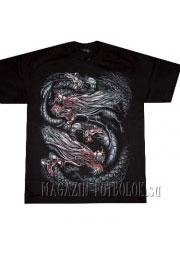 футболка с черно-белым драконом