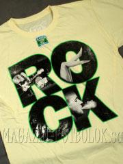 футболка с надписью rock