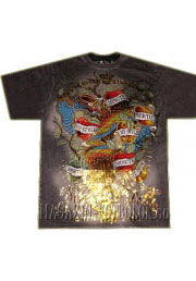 футболка с золотым драконом