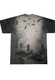 футболка скелет невидимка