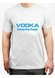 футболка vodka connecting people