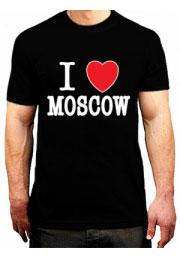 футболка я люблю москву