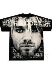 футболка с куртом кобейном full print
