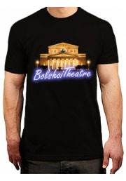 футболки с символикой москвы - большой театр