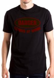 Прикольная футболкa Danger Genius at Work