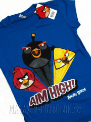 женская футболка angry birds girls aim high