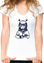 Женская футболка Girl Astronaut Holds Lollipopi Girls