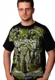 Хаки футболка Зелёный человечек
