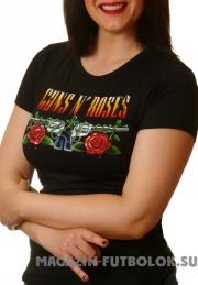 Рок футболка для девушек Guns-n-Roses