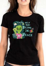Женская футболка Hey Yo Come In Peace Girls