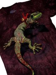 футболка peace out gecko