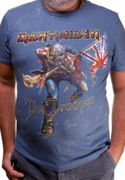 Футболка Iron Maiden Trooper синяя
