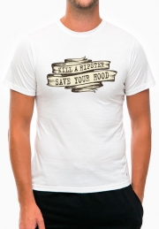 футболка kill a hipster save your hood