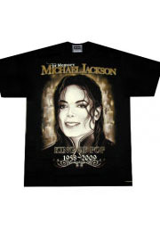 king of pop gold футболка с майклом джексоном