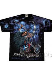 крутые футболки для байкеров ride hard