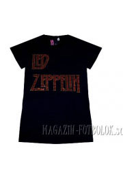led zeppelin рок футболка для девушек со стразами