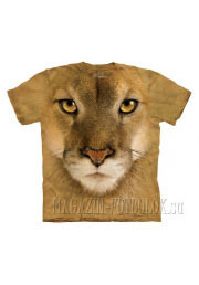 lion - футболка с 3d картинкой mountain