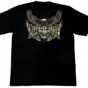 live ride байкерская футболка с орлом
