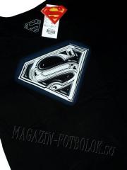 майка супермен - superman logo metallic