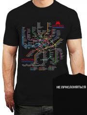 футболка схема метро москва