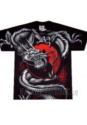 футболка с принтом китайский дракон