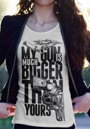 Женская футболка My Guns Bigger